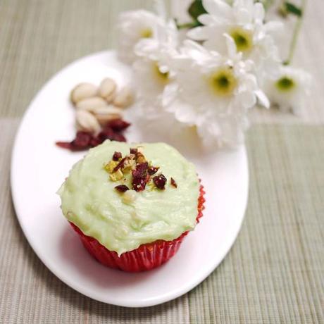 Cranberry Pistachio Cupcakes