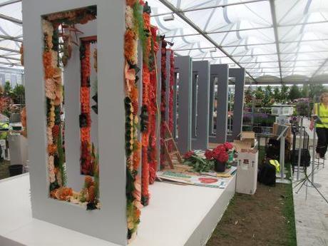 Interflora exhibit mid build (see my last post)