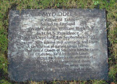 From the archives: Mydidee, from Tahiti to Deptford with Captain Bligh