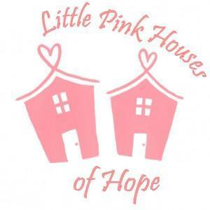 logo for littlt pink houses of hope beach house retreats