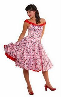 Cherry Cherry Satin Swishy Rockabilly Dress