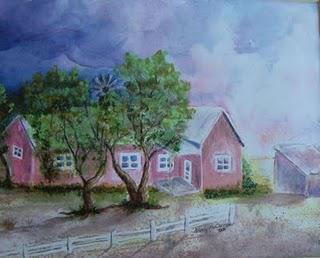Childhood Home in Watercolor