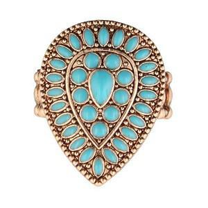 turquoise cocktail stretch ring