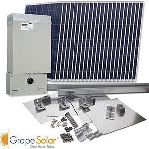 Grape Solar Offers 4 Photovoltaic Systems Through Costco