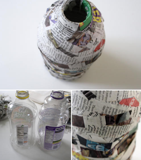 papier-mâché pottery ..kid art