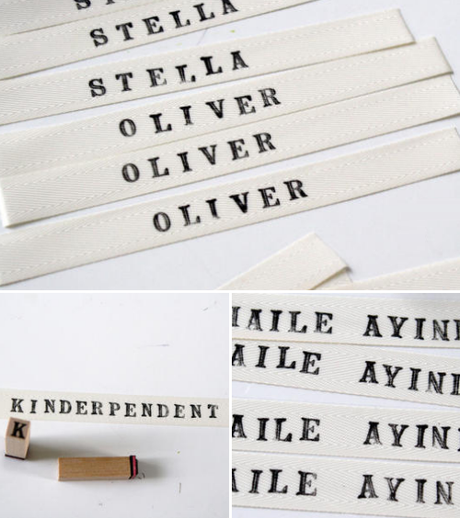 handmade labels ..tutorial
