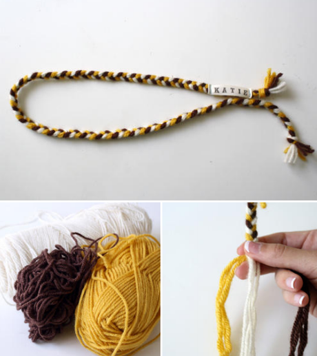chunky yarn headband ..tutorial