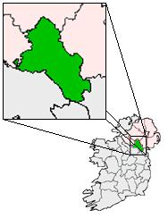 Map of Carrickmacross, Ireland