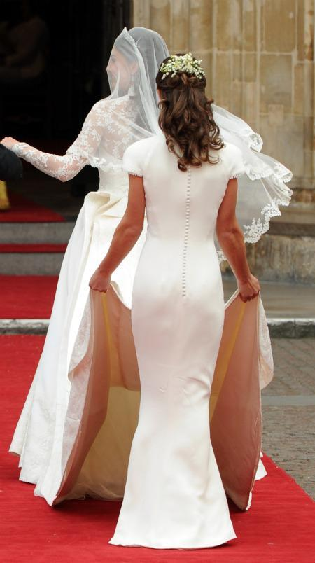 Button back of Pippa Middleton's dress