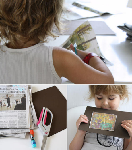 newspaper story starters ..kid art