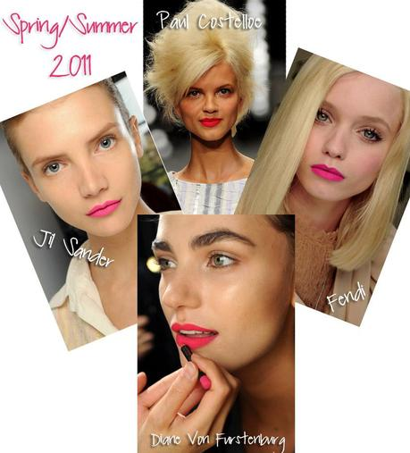 Bold Lips 2011 Celebrity Makeup Trend SS 2011: Hot Pink Lips