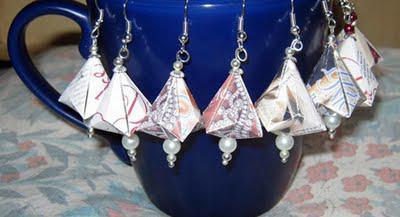 German Bell Paper Earrings