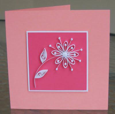 Quilled Daisy Card