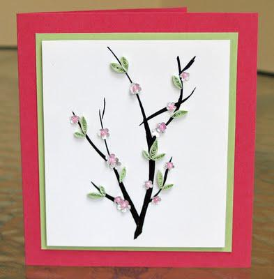 Cherry Blossoms Card Tutorial