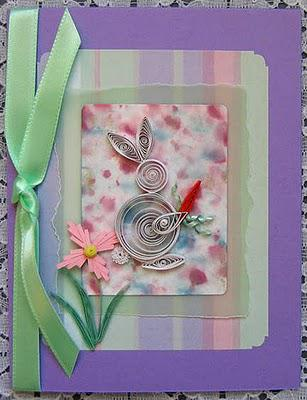Quilled Rabbit Cards