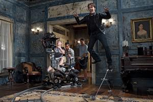 True Blood's Stephen Moyer on set in season 3