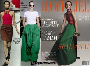 leighton meester wearing jil sander emerald skirt