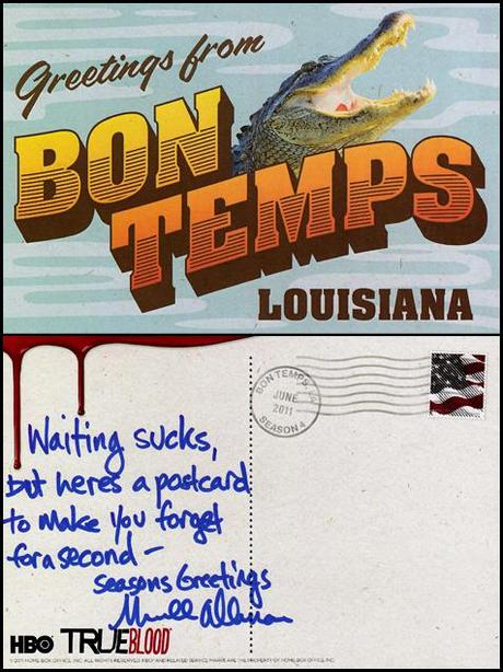Postcards from the True Blood set