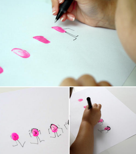 thumbprint people ..kid art