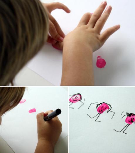 thumbprint people ..kid art