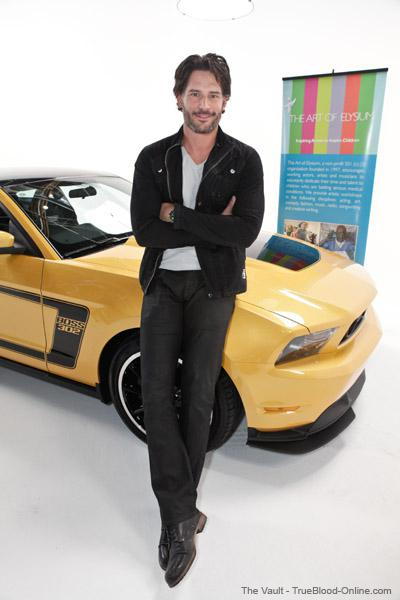 Joe Manganiello at Ford Mustang Boss workshop for Art Of Elysium