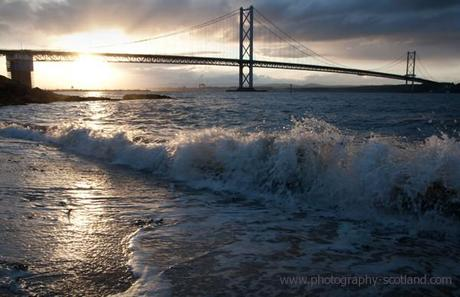 Photo - Forth road bridge at sundown, Scotland