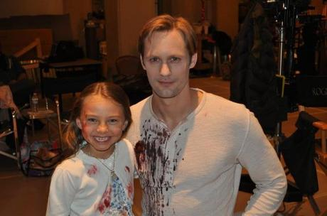 Teacup Human meets Sookie, Bill and Eric on the True Blood Set