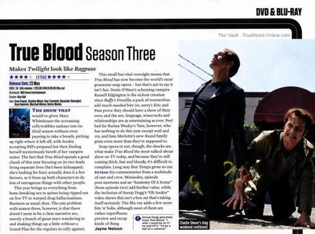 True Blood S3 DVD/Blu-Ray release reviewed in SFX Magazine