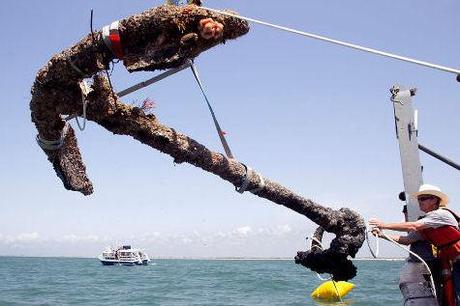 Archaeologists Recover Anchor From Blackbeard's Sunken Pirate Ship
