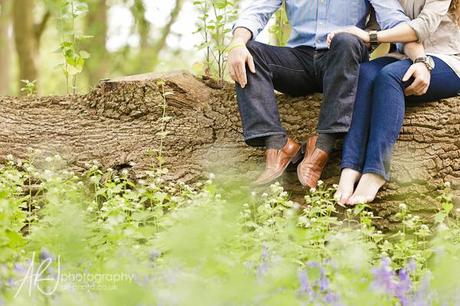 Romantic engagement photographs by ARJ Photography