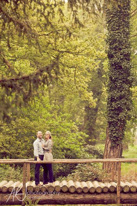 Trentham Gardens pre-wedding shoot ARJ Photography