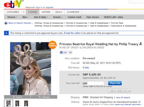 pretzel hat auctioned off on ebay