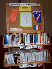 Foreign language book display