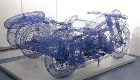 The Steel Wire Sculptures Of Shi Jindian