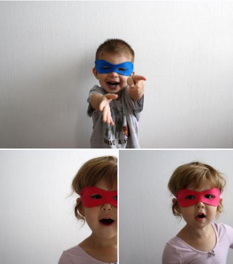 no-sew superhero mask ..tutorial
