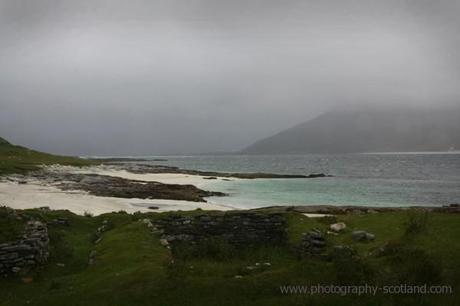 Photo - ruined houses of Paible, Taransay, Outer Hebrides