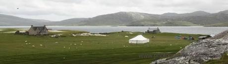 Photo - tents on Taransay for the annual Taransay fiddle camp