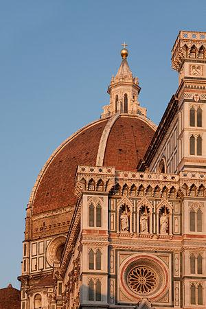 The Duomo in Florence, seen at sunset.