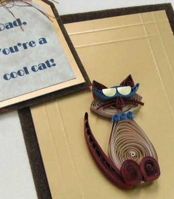 Quilled Cat - Father's Day Card