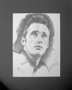 Alexander Skarsgard drawing by Kristin Bauer, True Blood's Pam