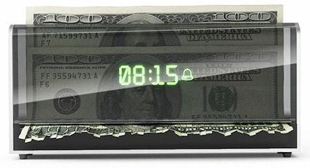 Money-Shredding Alarm Clock