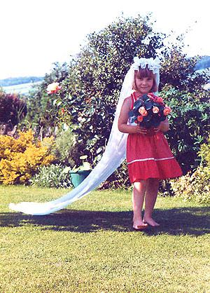 playing at weddings aged seven ish - yes, that's me!