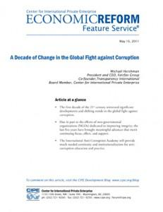 The global fight against corruption
