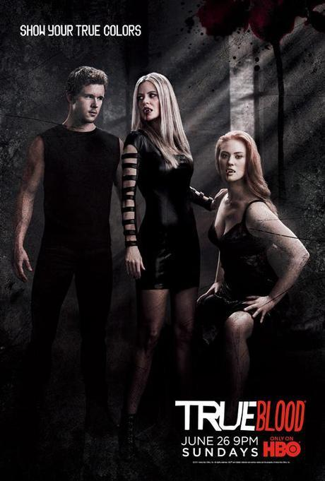 True Blood Season 4 poster-black