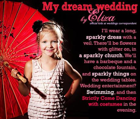 Kids wedding survey Eliza's dream wedding