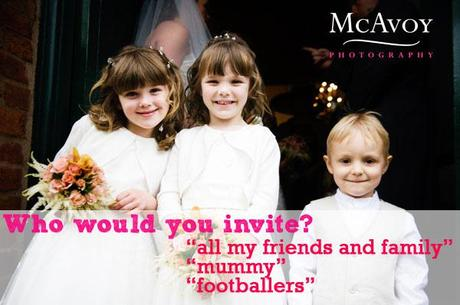children at weddings survey with McAvoy Photography
