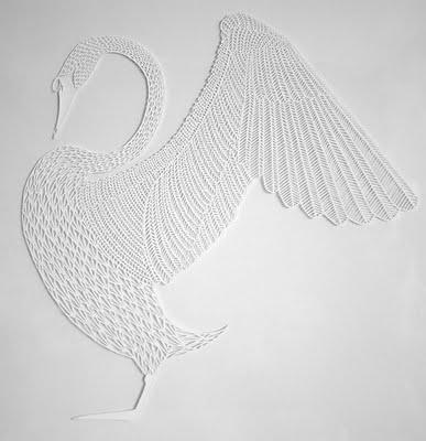 Michael Lomax - Swan Papercut