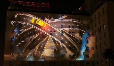 Lexus CT200h Projection on Roosevelt Hotel in Los Angeles