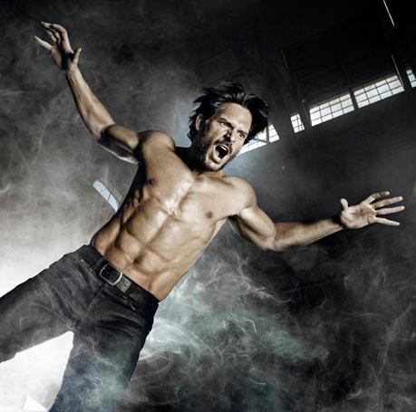 Joe Manganiello looking mighty fit and wolfie in Men's Health