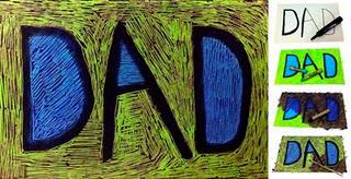 Updated Scratch Art Father's Day Card